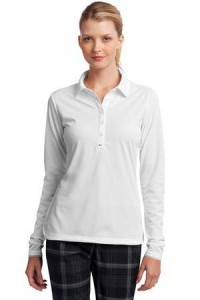 nike-woman-white-long-sleeve-polo