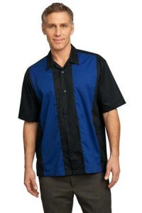 men-woven-blue-stripe-short-sleeve